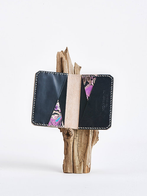 F7 Wallet in marbled purple and black.