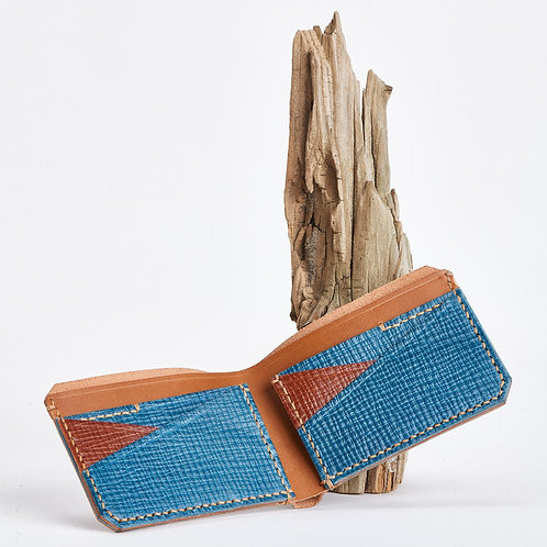B9 Wallet in Caramel and Aqua
