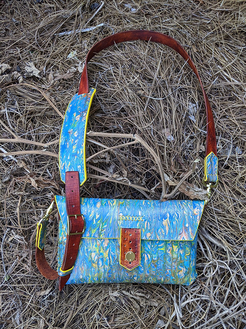 Crossbody in Impressionist Blue