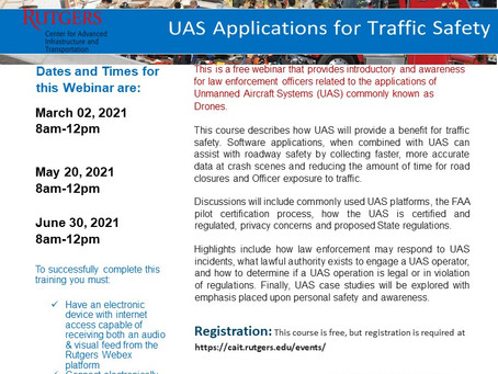 UAS Application in Traffic Safety