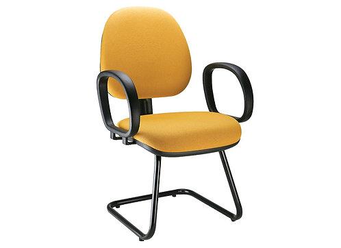 Cadeira gerente / executiva com braços e pés fixos