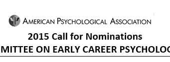 APA Call for Nominations: Committee on Early Career Psychologists