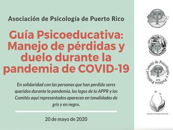 Guía Psicoeducativa: Manejo de pérdidas y el duelo durante la pandemia de COVID-19