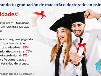 Felicitaciones a los/as graduandos/as