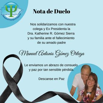 Nota de Duelo   Manuel Antonio Gómez Ortega