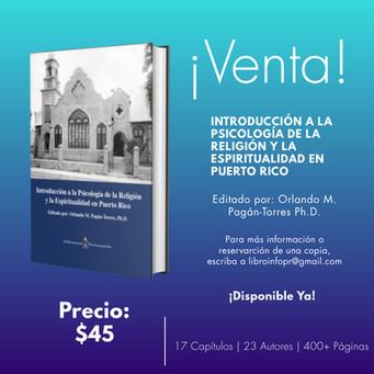 LIBRO   Introducción a la Psicología de la Religión y la Espiritualidad en Puerto Rico
