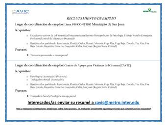Convocatoria | Estudiantes Universidad Interamericana de Puerto Rico