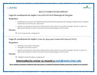 Convocatoria   Estudiantes Universidad Interamericana de Puerto Rico