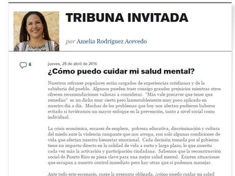 Columna: ¿Cómo puedo cuidar mi salud mental?