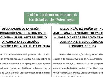 La APPR se une a ULAPSi en apoyo a la soberanía cubana.