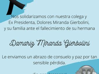 Nota de Duelo | Damariz Miranda Gierbolini