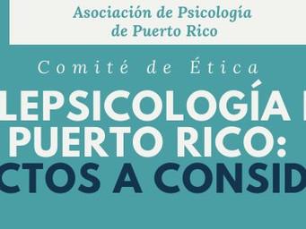 Telepsicología en Puerto Rico: Aspectos a considerar