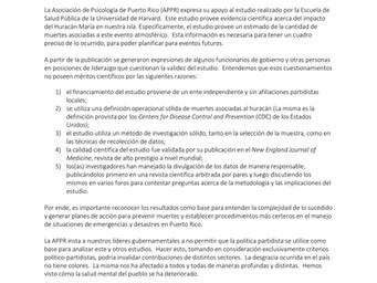 Comunicado de Prensa | Apoyo el estudio realizado por la Escuela de Salud Pública de la Universidad