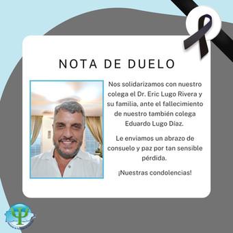 Nota de Duelo | Dr. Eduardo Lugo Rivera