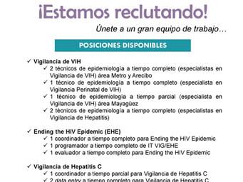 Reclutamiento | Programa de Vigilancia de VIH