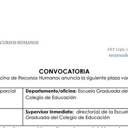 Convocatoria | Conferenciante en Psicología Escolar - Recinto de Ponce