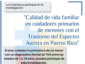 Calidad de vida familiar en cuidadores primarios de menores con el Trastorno del Espectro Autista