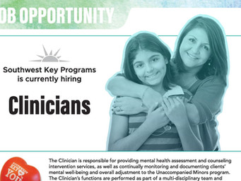 Southwest Key Programs is currently hiring Clinicians