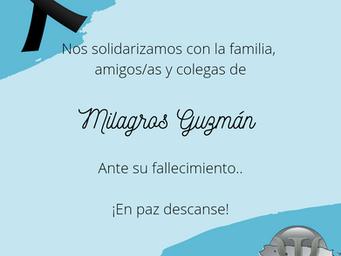 En memoria | Milagros Guzmán, MA 1928-2021