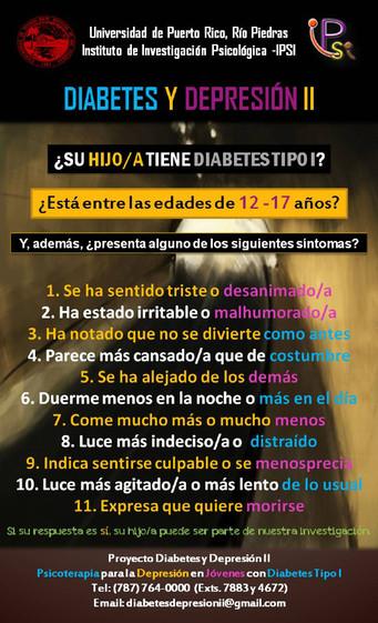 ¡Colabora! Reclutamiento para el Proyecto Diabetes y Depresión