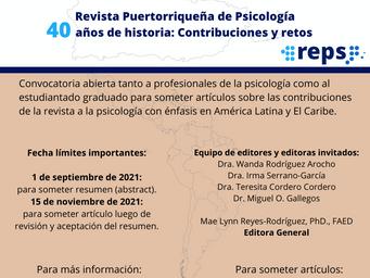 Convocatoria Especial | 40 años de historia: Contribuciones y retos
