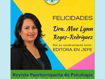 Nombramiento a la Dra. Mae Lynn Reyes Rodríguez