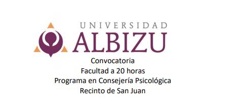 Convocatoria Facultad a 20 horas  | Programa en Consejería Psicológica |UCA, Recinto de San Juan