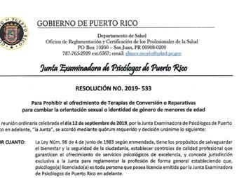 La JEP prohíbe el ofrecimiento de terapias de conversión o reparativas a menores de edad