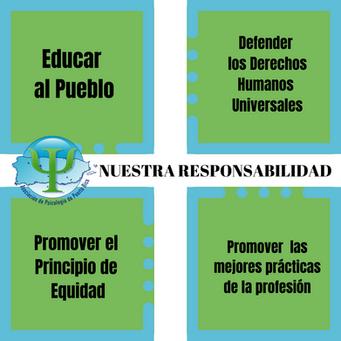 Cuatro áreas que atendemos con responsabilidad para el beneficio social y profesional