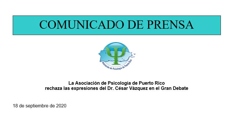 La APPR rechaza las expresiones del Dr. César Vázquez en el Gran Debate