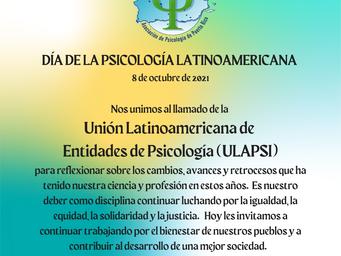 La APPR se une a ULAPSI en la conmemoración del 8 de octubre, día de la psicología latinoamericana