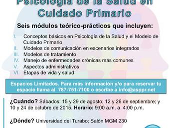 Certificación: Psicología de la Salud en Cuidado Primario