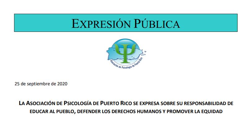 Responsabilidad de la APPR de educar al pueblo, defender los derechos humanos y promover la equidad