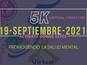 La Asociación de Psicología de Puerto Rico celebra su 6to 5K Promoviendo la Salud Mental (Virtual)