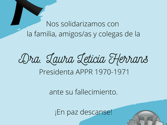 In Memoriam, Laura Leticia Herrans