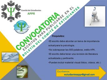 ¡Atención Estudiantes! Convocatoria para: Boletín de Estudiantes y Facilitador/a de talleres