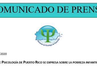 Expresiones sobre la pobreza infantil en Puerto Rico