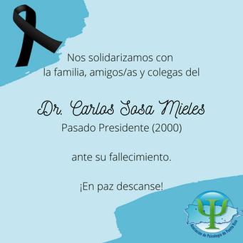 Nota de Duelo | Dr. Carlos Sosa Mieles