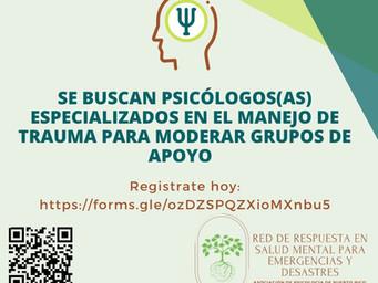 Reclutamiento de psicólogos/as especializados