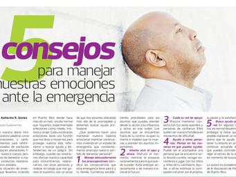 5 Consejos para manejar nuestras emociones ante la emergencia