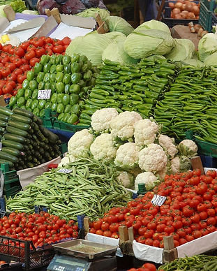 Local farmers market at Cengelkoy.