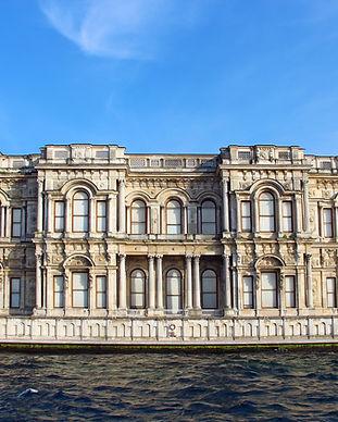 Beylerbeyi Palaca as seen from the Bosphorus.