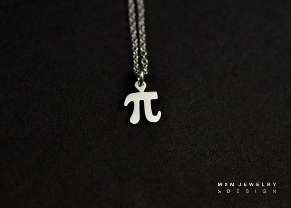 Pi (π) for Math Lover Necklace