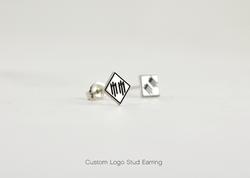 Custom Logo Stud Earring