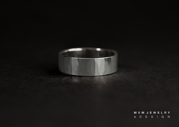 Handhammered Texture Ring