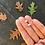 Thumbnail: Oak Leaf Stud Earrings