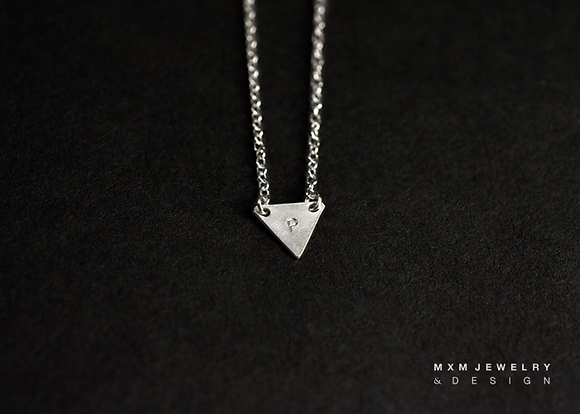 Personalized Initial Triangle Necklace