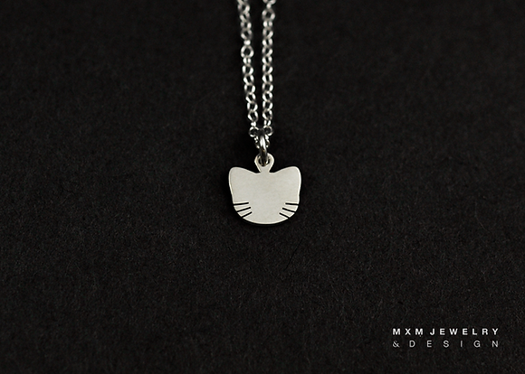 Cat / Kitty Head  Necklace