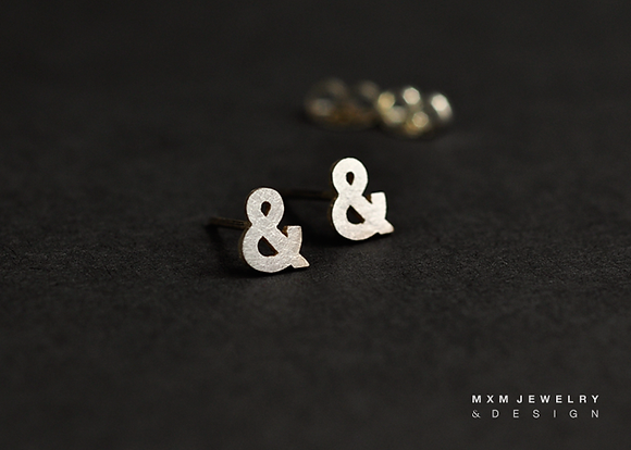 '&' 'And' 'Et' Sign Stud Earrings