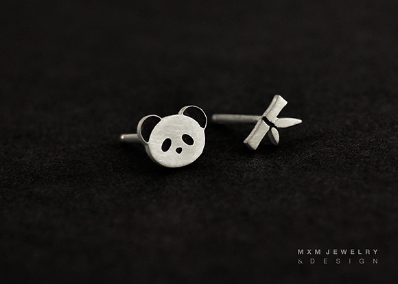 Little Panda Stud Earrings